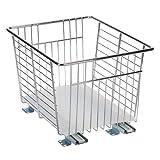 Household Essentials C1317WS Glidez Sliding Chrome Veggie Bin - Pull Out Cabinet Organizer - 13-Inches Wide