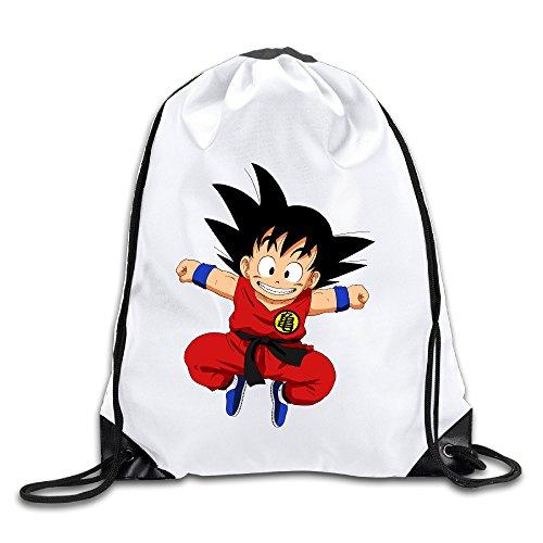 Dragon Ball Z Goku 100% Polyester Fiber Drawstring Backpack Bag One Size