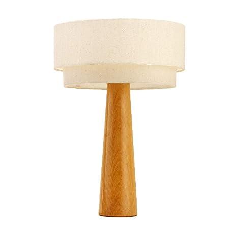 Lámparas De Mesa Base De Madera Lámpara De Mesa Decoración De ...