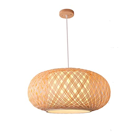 Handmade Bamboo Lampshade Pendant Ceiling Shade Diy Wicker Rattan