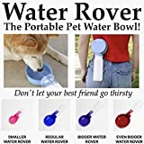 Water Rover Smaller 3-Inch Bowl and 8-Ounce Bottle, Dark Blue