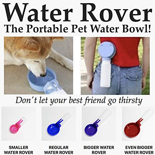 Water Rover Regular 4-Inch Bowl and 15-Ounce Bottle, Dark Blue