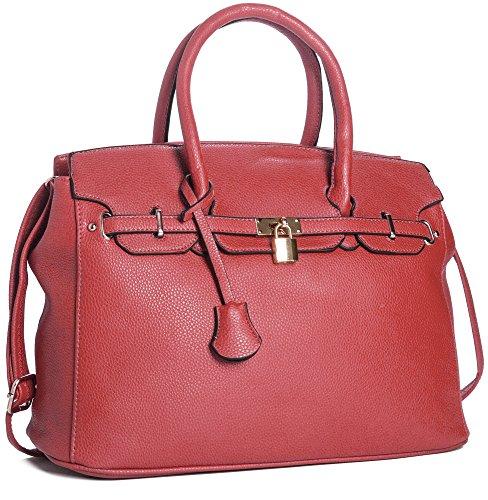 cm épaule 38x31x16 Mode Femmes Sac Fourre red LxHxP main Élégant tout à BHBS pBvwR8qx