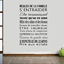 AMEA AYA DIY Wall Stickers Wall Decals French Words & Quotes Stickers , orange