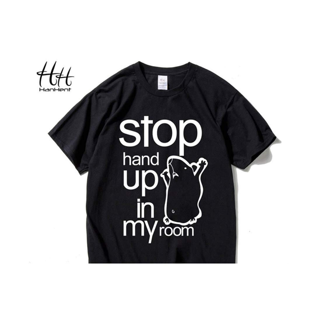 Indian Clothing Store HANHENT HH Cotton O-Neck Black Men T Shirt