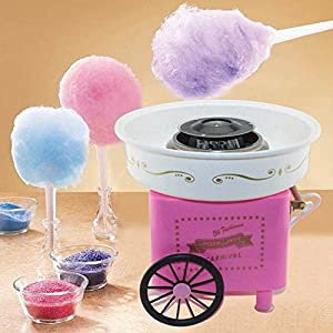 Electric Mini Sweet Cotton Candy Maker Machine Nostalgia DIY Cotton Candy Sugar Machine for Kids Gift Children Girl Boy