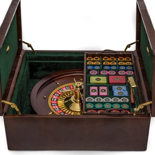 Bello-Games-Collezioni-Piazza-San-Lorenzo-Luxury-Roulette-Set-Plated-in-24K-Gold-from-Italy