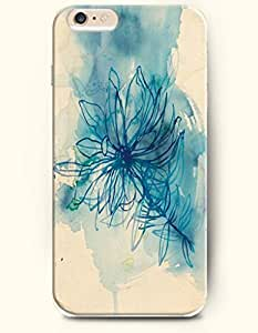 OOFIT iPhone 5 5s Case - Merry Christmas A White Xmas Tree In Teal Background