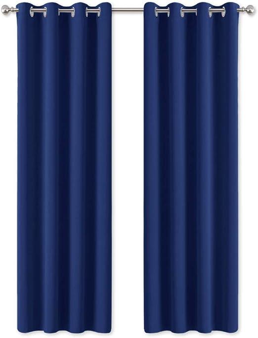 Rideau Occultant 135 x 260 /à Oeillets Uni Bleu Marine