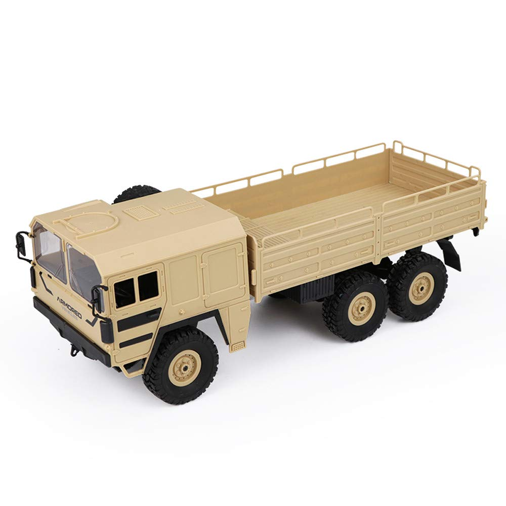 Yellow Prevently RC Truck Toy, Creative JJRC Q64 RC 1 16 2.4G Remote Control 6WD Tracked OffRoad Military Truck Car RTR Toy