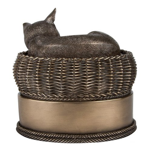 Perfect-Memorials-Bronze-Cat-in-Basket-Cremation-Urn