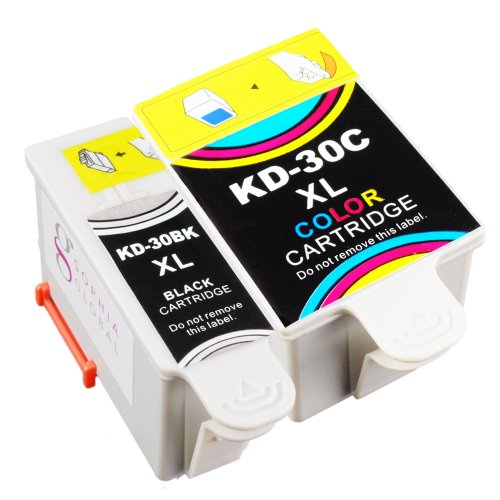 Sophia Global Compatible Ink Cartridge Replacement for Kodak 30XL (1 Black, 1 Color)