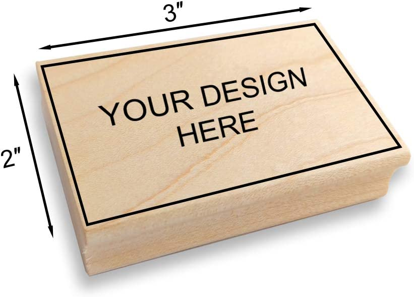 Custom Art Mount Rubber Stamp - Many Sizes to Choose from Upload Your Own Artwork 101mm x 75mm Image Size: 4 high x 3 Wide Max