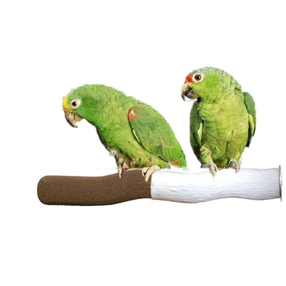 1pcs Uteruik Natural Calcium Claw Grinding Perch Stand Toy for Pet Parrot Budgie Parakeet Cockatiel Conure Lovebird Finch Canary Cockatoo African Grey Macaw Eclectus  Cage zf#3