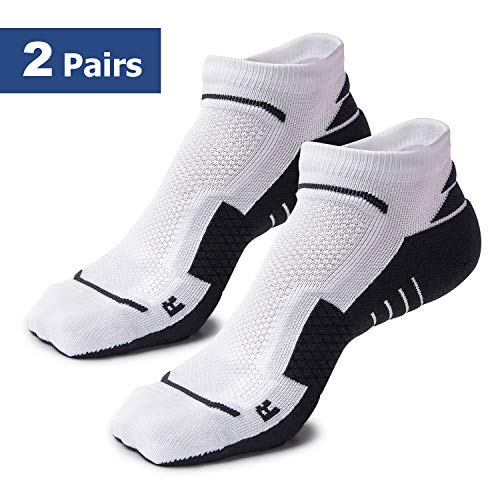 (Athletic Socks for Men and Women | Perfect for Hiking, Running, Workouts, Gym, Cycling, Trail | Anti-Blister, Moisture Wicking, Hidden Comfort, Low Cut, No Slip | Improve Performance)