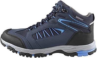 Crivit Sports - Zapatillas de Senderismo de Tela para Hombre Gris/Azul, Color, Talla 43 EU: Amazon.es: Zapatos y complementos