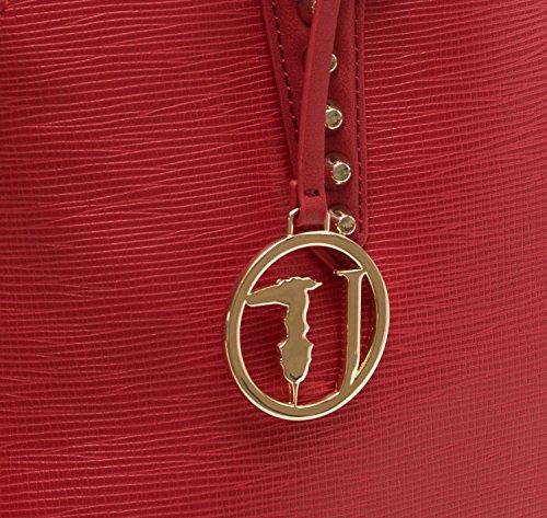 Trussardi Borsa Donna Aspen Saffiano Dome Small+poch Rosso