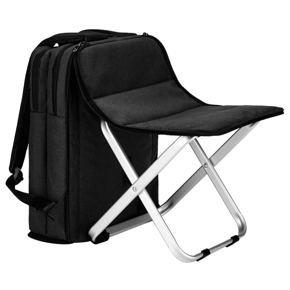 BigTron Multi-Functional Backpack Stool Combo – Large Capacity Backpack and Portable Folding Cooler Chair- Perfect for Camping Fishing Hiking Picnic Outdoor Watching Sports Events BBQ