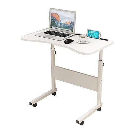 GY Mesa Ordenador Portátil, Ajustable Levantar Escritorio Pie, con iPad Y Ranura para Teléfono