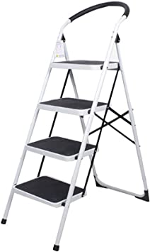 Multifuncional Cuatro pasos anti-deslizante Escalera, color doble metal Escalera pedal grande General Perfil heces de construcción al aire libre/plegable de espesor 6 cm estable: Amazon.es: Bricolaje y herramientas