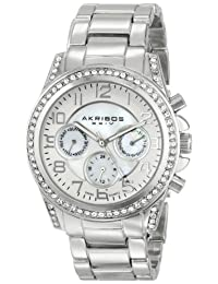 Akribos XXIV Women's AK683SS Ultimate Analog Display Swiss Quartz Silver Watch