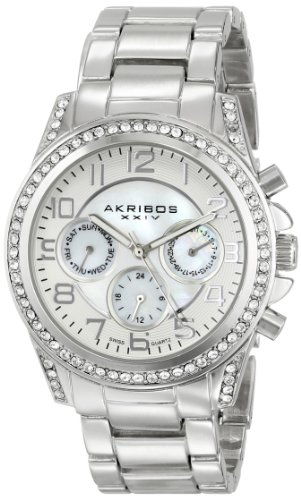 Akribos XXIV Women's AK683SS Ultimate Swiss Quartz Stainless Steel Bracelet Watch