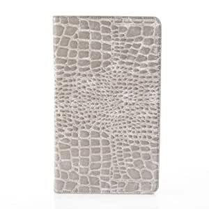 PIZU Crocodile PU Leather Case Cover Stand for Samsung Galaxy Tab Pro 8.4 SM-T320/325 Gray