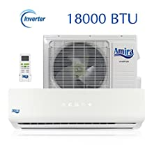 18000 BTU Mini Split Air Conditioner - 1.5 Ton Ductless System with Inverter and Heat Pump - Complete Set with 15 Feet kit - 208-230 VAC