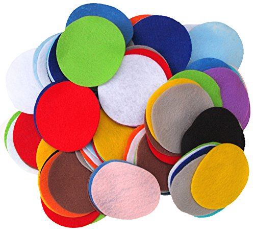 Playfully Ever After 3 Inch Mixed Color Assortment 100pc Felt Circles by Playfully Ever After