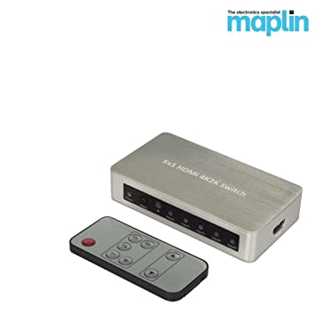 Maplin 5 Way 4K2K 3D HDMI Switch with Remote Amazoncouk Electronics