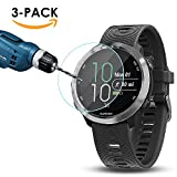 Kimilar [3-Packs] Garmin Forerunner 645 Screen Protector, Full Coverage Tempered Glass Screen Protector for Garmin Forerunner 645 Music, [9H Hardness] [Crystal Clear] [Scratch Resist] [No-Bubble]