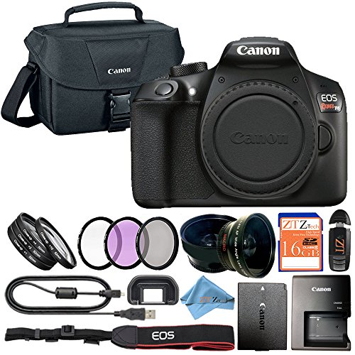 Canon EOS Rebel T6 18MP Digital SLR Camera Retail Packaging Bundle (Body Only)