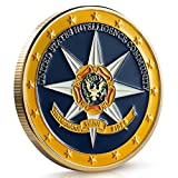US Intelligence Community Challenge Coin - Gold Plated Challenge Coin, Stunning Detailing