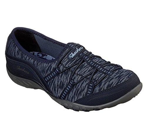 Skechers Womens Relaxed Fit: Breathe Easy Sneaker, Navy, Size 9 by Skechers