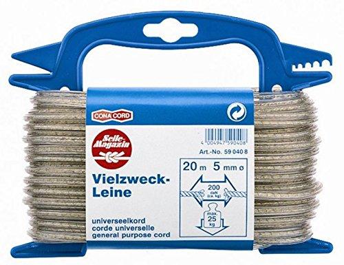 20m Wäscheleine mit Stahl-Einlage, PVC ummantelt, Ø 5 mm
