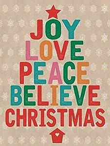 joy love peace believe christmas metal sign holiday christmas home dcor