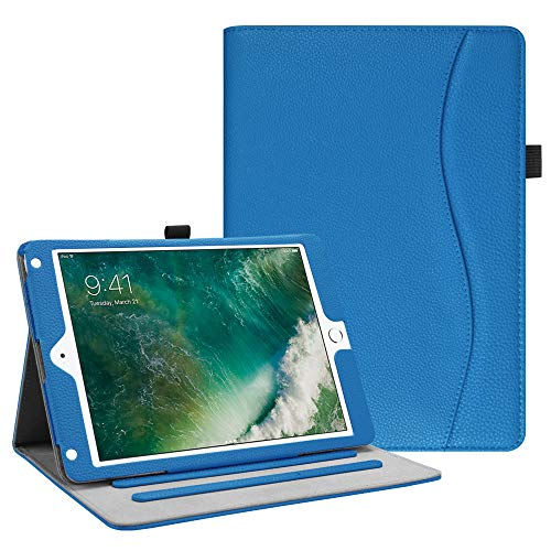Fintie iPad 9.7 2018 2017 / iPad Air 2 / iPad Air Case - [Corner Protection] Multi-Angle Viewing Folio Cover w/Pocket, Auto Wake/Sleep for Apple iPad 6th / 5th Gen, iPad Air 1/2, Royal Blue