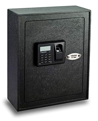 (Viking VS-12BL Biometric Fingerprint Wall Safe Gun safe pistol safe)