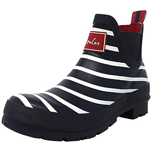 (Joules Women's Wellibob Rain Boot, Hope Stripe French Navy, 6 )