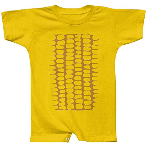 Halloween Corn on the Cob Costume Baby Romper Yellow 24 Month