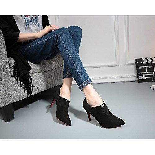 Black de Zapatillas Flops Verano amp; Confort HeelBlack caminar blanco PU mujer Casual WIKAI Flip Chunky Uqw65Tx