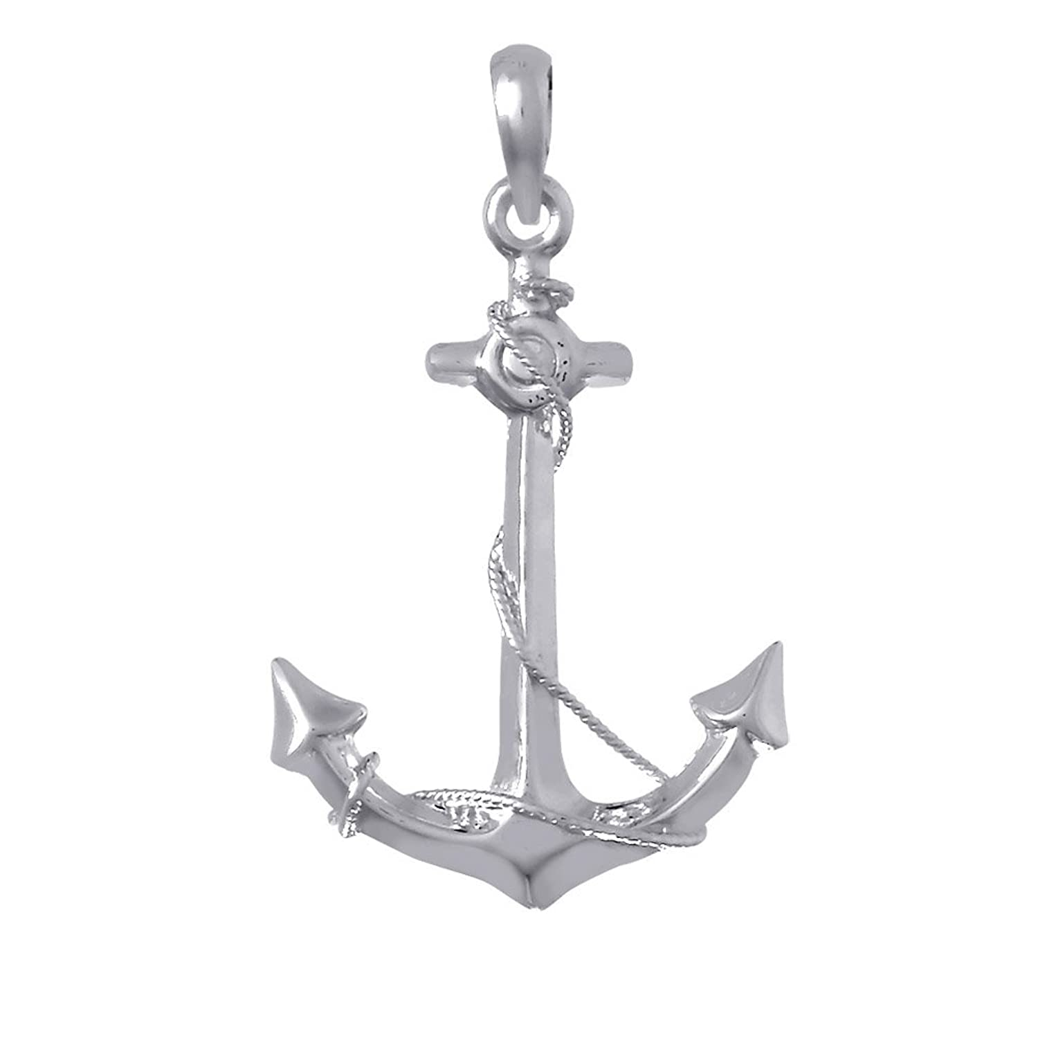 Sterling Silver Nautical Anchor Pendant