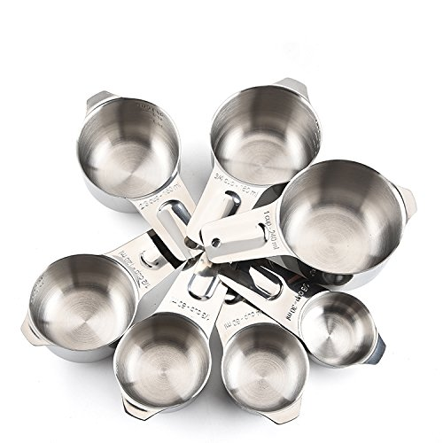 Measuring Cups and Spoons by Colmore Collection - Stainless Steel Metal 13 Piece Set, Classic, Stylish, Stackable for Dry and Liquid Ingredients, Perfect for Cooking and Baking