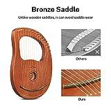 Donner DLH-003 Lyre Harp, 16 Metal Strings Copper