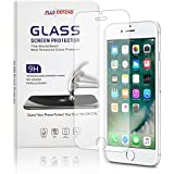 iPhone 7 / iPhone 8 Tempered Glass Screen Protector Ultra-Clear HD Protect Gorilla Glass with Premium Anti-Shatter and Oleophobic Treatment from Plus Defend