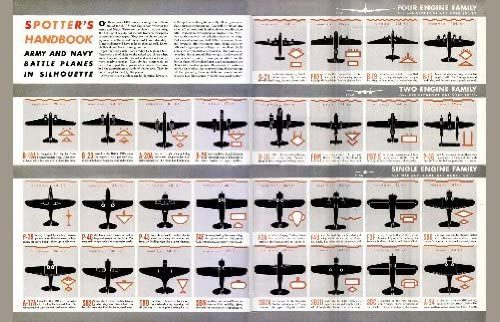 Amazon Com Ww Ii Military Aircraft Spotter Identification Chart 11x17 Mini Poster Prints Posters Prints