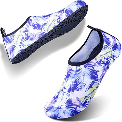 (SIMARI Anti Slip Water Shoes for Women Men Summer Outdoor Beach Swim Surf Pool SWS002 Palm)