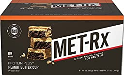 MET RX Protein Plus Peanut Butter Cup, 85 Gram, 9 Count