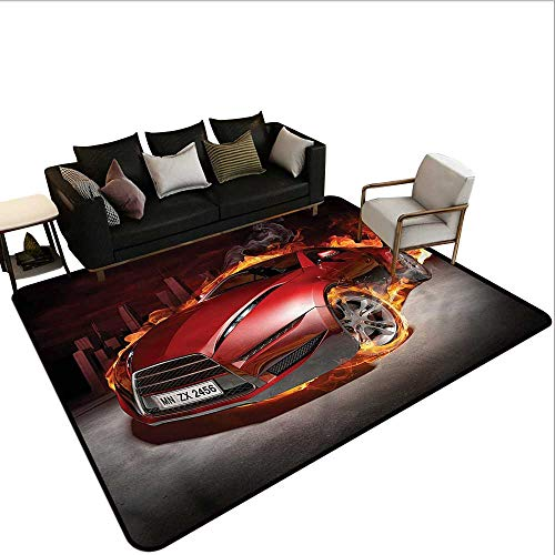 - Cars,Office Chair Floor Mat Foot Pad 80
