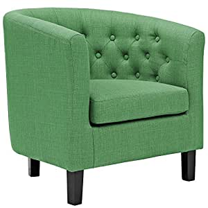 Modway Prospect Upholstered Contemporary Modern Armchair In Kelly Green